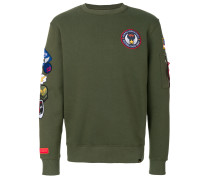 multi patched sweatshirt