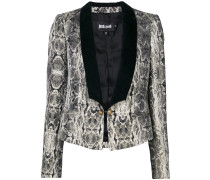 snakeskin print dinner jacket