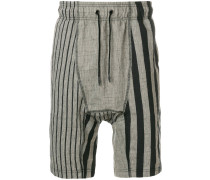 printed drop-crotch shorts