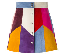 Minirock mit mehrfarbigen Einsatz