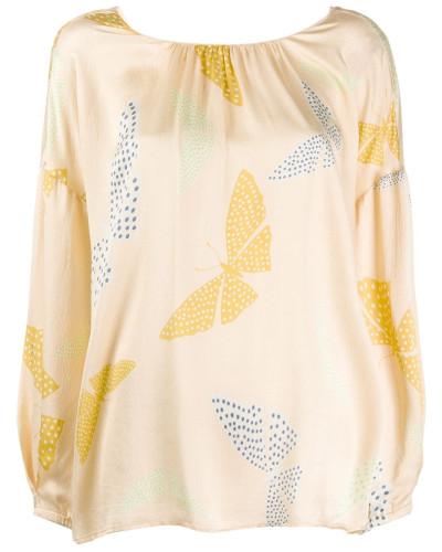 Bluse mit Schmetterling-Print