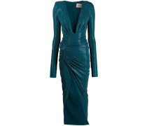 long-sleeve fitted maxi dress