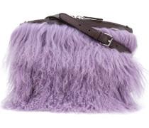 shearling shoulder bag