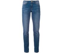 Gepunktete Jeans - women - Baumwolle/Elastan - 4