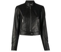 zip-up biker jacket