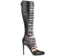 Kniehohe Stiefel mit Schnallen