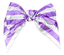 striped bow hair clip