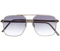 Eckige Sonnenbrille in Distressed-Optik