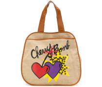 "Canvas-Shopper mit ""Cherry Bomb""-Print"