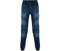 Jeans-Jogginghose im Biker-Look - men