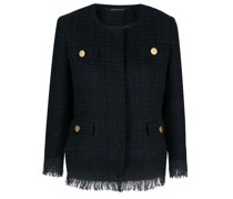 Tweed-Jacke mit Karomuster
