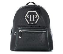 skull embossed backpack
