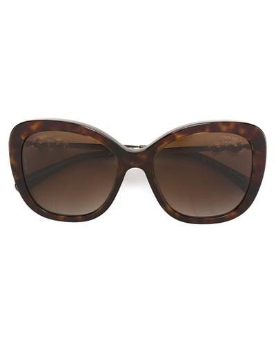 chanel damen sonnenbrille in schildpatt optik mit perlen. Black Bedroom Furniture Sets. Home Design Ideas