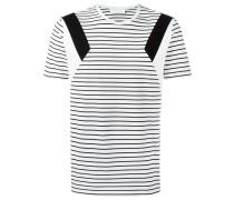 Gestreiftes T-Shirt mit geometrischen Details