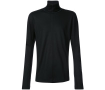 seam detail roll-neck jumper