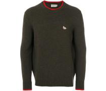 Pullover mit kontrastfarbigen Bündchen