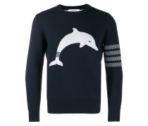 Navy Dolphin Icon crew neck Pullover