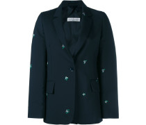 Floral Embroidered Wool Jacket