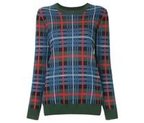 'Quantum' Pullover mit Schottenkaro
