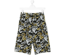 baroque print shorts