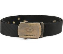 logo engraved buckle belt