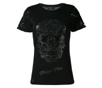 - T-Shirt mit Totenkopf-Verzierung - women