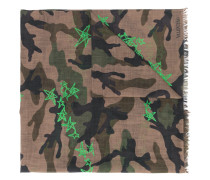 camouflage star print scarf