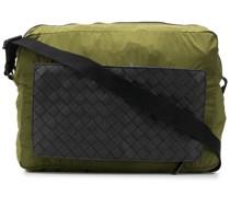 Kuriertasche mit Intrecciato-Tasche