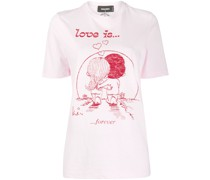 "T-Shirt mit ""Love Is Forever""-Print"