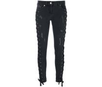 Zayn x  Jeans mit seitlicher Schnürung