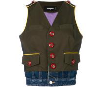 embellished button vest