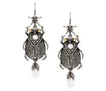 skull insect earrings