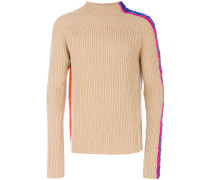 panelled sleeve ribbed jumper