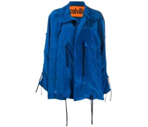 Oversized-Jacke mit Kordelzug