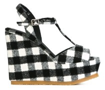 'Urinis Plaid' Wedge-Sandalen