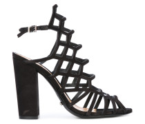 block heel caged sandals - women - Leder - 36