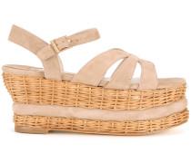 - Flatform-Sandalen aus Wildleder - women