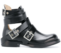 cut-out buckle boots