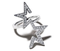 18kt 'Abstract Star' Weißgoldring