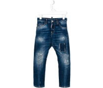 Schmale Jeans im Used-Look - kids