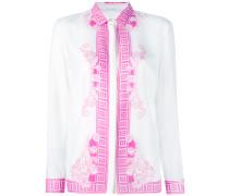 Seidenhemd mit Muster-Print - women - Seide - 46