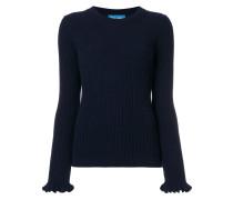 Pullover mit gerüschten Bündchen