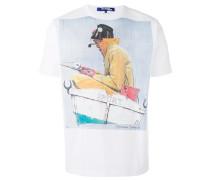 T-Shirt mit Fischer-Print