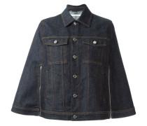 Jeans-Cape mit Brusttaschen