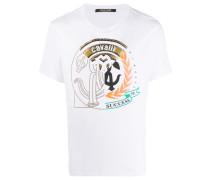 T-Shirt mit verziertem Wappen-Print