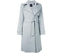 Einreihiger Mantel mit Gürtel - women