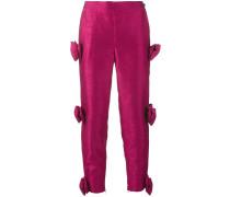Cropped-Hose mit Schleifen - women - Polyester