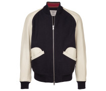 contrast baseball jacket