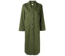 Langer Mantel mit aufgesetzte Tasche