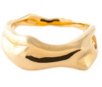 'Body' Ring mit 18kt Vergoldung